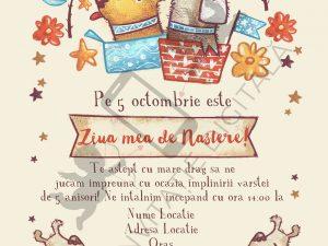 invitatie aniversare whatsapp si facebook cu catelusi