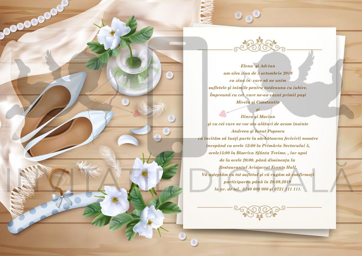 invitatie de nunta digitala bride 001