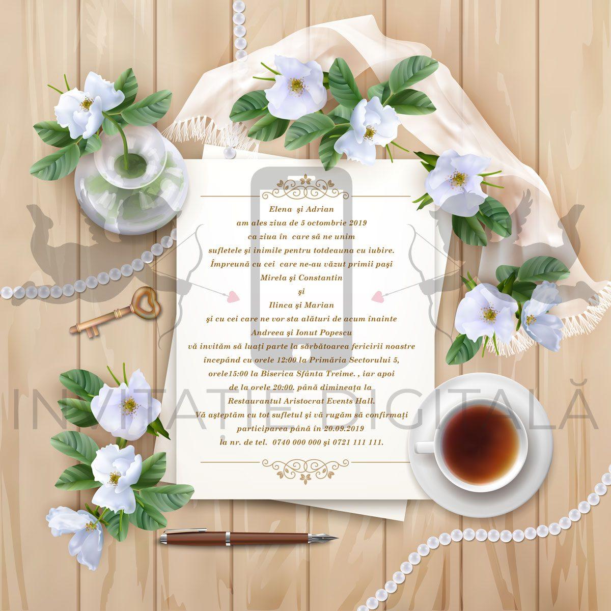 invitatie de nunta digitala bride 002