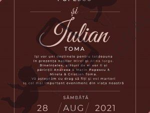 invitatie nunta online bordo / visiniu