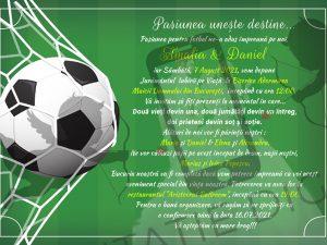 invitatie digitala fotbal