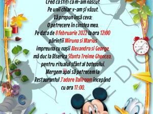 Invitație Online Botez Mickey Mouse & Donald Duck- Whatsapp - MKD001