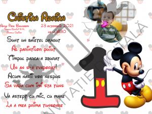 Invitație digitală Moț băiețel - Mickey Mouse - MOT002