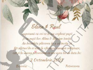 invitatie digitala nunta flori